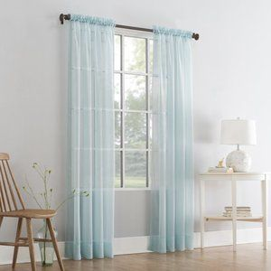 Mainstays Marjorie Sheer Voile Curtain Panels FOUR